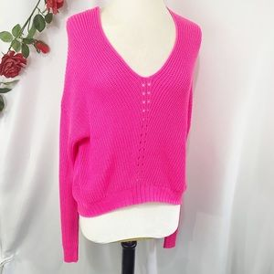 🐠Rue21 Oversized Slouchy Knit Sweater Hot Pink